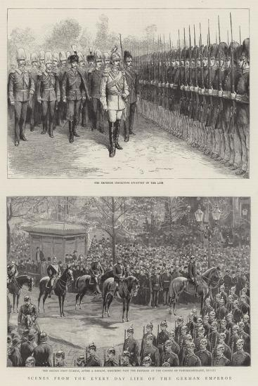 Scenes from the Every Day Life of the German Emperor--Giclee Print