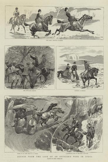 Scenes from the Life of an Officer's Wife in India-John Charlton-Giclee Print