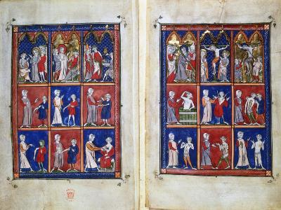 Scenes from the Life of Christ, and Doctors with Patients, C1300--Giclee Print