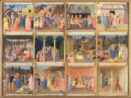 Scenes from the Life of Christ, Panel Three from the Silver Treasury of Santissima Annunziata-Fra Angelico-Giclee Print