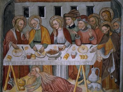Scenes from the Life of Jesus Christ, Supper in Simon's House, 15th Century--Giclee Print