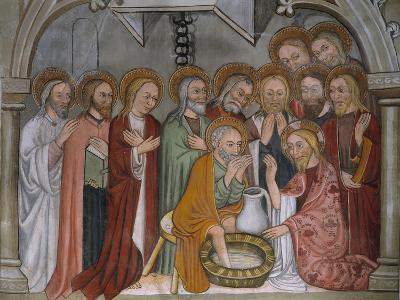 Scenes from the Life of Jesus Christ, the Washing of the Feet, 15th Century--Giclee Print