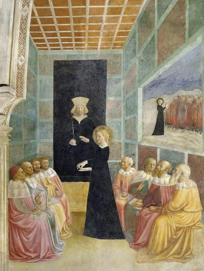 Scenes from the Life of St. Catherine: Saint Catherine's Disputation with the Philosophers-Tommaso Masolino Da Panicale-Giclee Print