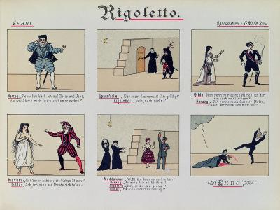 Scenes from the Opera 'Rigoletto' by Giuseppe Verdi--Giclee Print