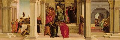 Scenes from the Story of Esther (Oil on Panel)-Filippino Lippi-Giclee Print