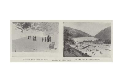 Scenes in Naini Tal--Giclee Print