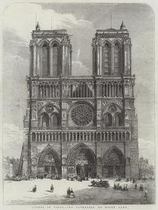 Scenes in Paris, the Cathedral of Notre Dame