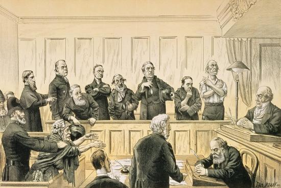 Scenes in the Liberal Union, No. 4 the Magistrate and the Refractory Casuals, from 'St. Stephen's…-Tom Merry-Giclee Print