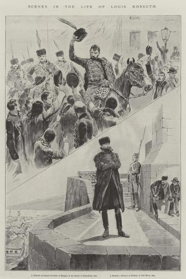 Scenes in the Life of Louis Kossuth--Giclee Print