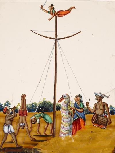 Scenes of Acrobatics During a Festival, from Thanjavur, India--Giclee Print