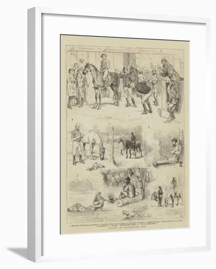 Scenes of Australian Life-Alfred Chantrey Corbould-Framed Giclee Print