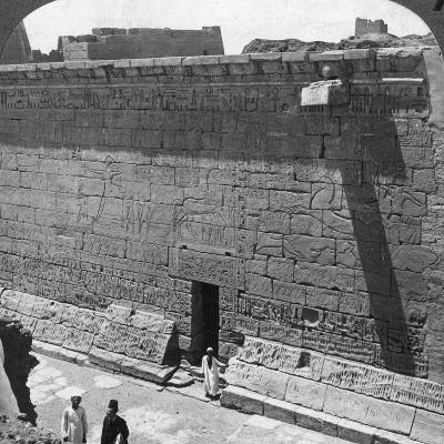 Scenes of Battle and the Chase Carved on a Wall at Medinet Habu, Thebes, Egypt, 1905-Underwood & Underwood-Photographic Print