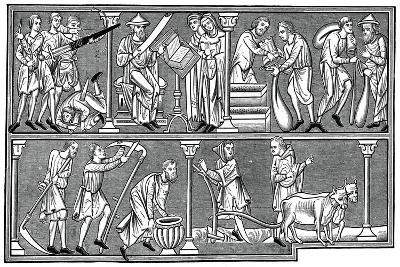 Scenes of Medieval Life, 13th Century--Giclee Print