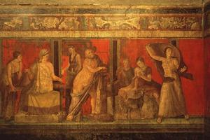 Scenes of Rituals of Cult of Dionysus, Villa of the Mysteries, Pompei, C. 60 AD