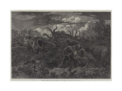 Scenes of South African Travel, an Attack in the Night-William James Linton-Giclee Print