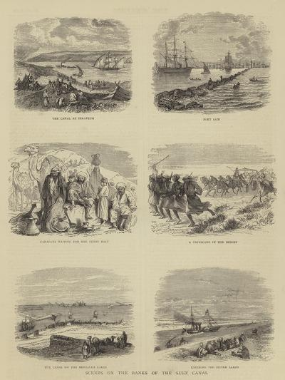 Scenes on the Banks of the Suez Canal--Giclee Print