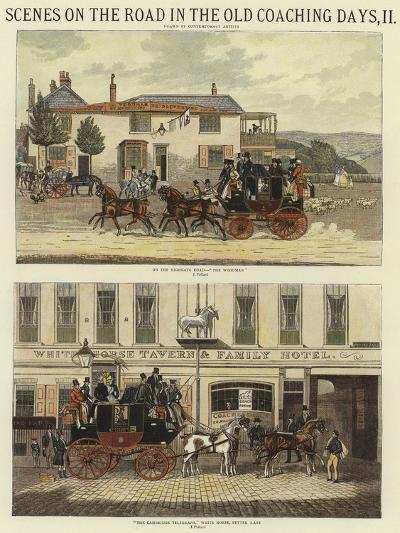 Scenes on the Road in the Old Coaching Days, II-James Pollard-Giclee Print