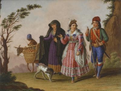 Scenes with Figures in Traditional Costumes-Raffaele Giovine-Giclee Print