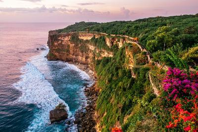 Scenic Landscape of Fantastic Sunset at Uluwatu Bali. Travel Bali, Indonesia. Tranquility of Sunset-Dmitry Polonskiy-Photographic Print