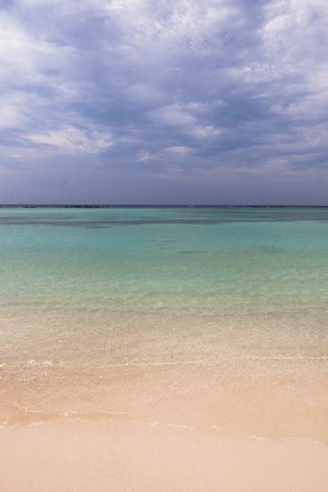 Scenic of Water and Beach, Baby Beach, Aruba, Lesser Antilles, Caribbean-Alberto Biscaro-Photographic Print