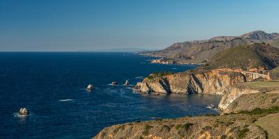 Scenic view of Bixby Creek Bridge at Pacific Coast, Big Sur, California, USA--Photographic Print