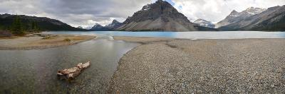 Scenic View of Bow Lake in Alberta, Canada-Raul Touzon-Photographic Print