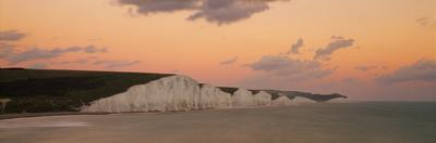 Scenic view of coastline, Seven Sisters, English Channel, Seven Sisters Country Park, Sussex, En...