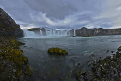 Scenic View of Godafoss Waterfall in Iceland-Raul Touzon-Photographic Print