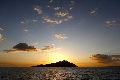 Scenic View of Mamanuca Islands During Sunset in Fiji-Jill Schneider-Photographic Print