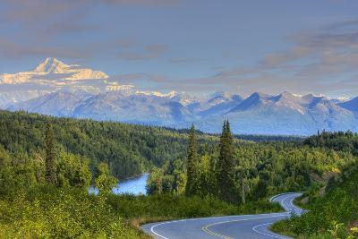 Scenic View of Mt. Mckinley and the Parks Highway Denali National Park Near the Princess Lodge-Design Pics Inc-Photographic Print