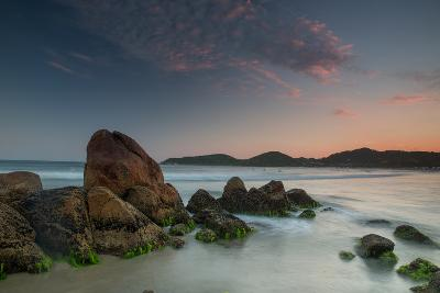 Scenic View of Praia Do Rosa Beach in Florianopolis Mainland at Sunset-Alex Saberi-Photographic Print
