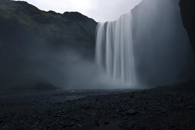 Scenic View of Skogafoss Waterfall in Iceland-Raul Touzon-Photographic Print