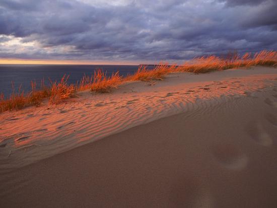 Scenic View of Sleeping Bear Dunes National Lakeshore-Melissa Farlow-Premium Photographic Print