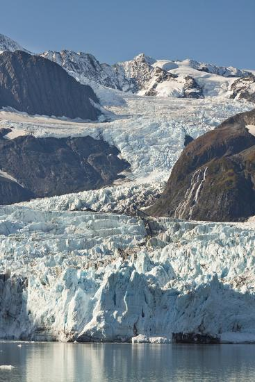 Scenic View of Stairway Glacier (R) Flowing into Surprise Glacier from Chugach Mountains-Design Pics Inc-Photographic Print
