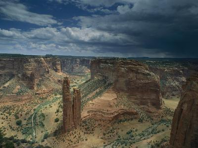Scenic View of the Canyon and Spider Rock-Bill Hatcher-Photographic Print
