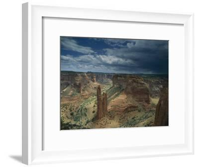 Scenic View of the Canyon and Spider Rock-Bill Hatcher-Framed Photographic Print