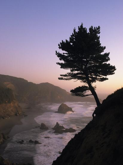 Scenic View of the Oregon Coast at Twilight-Phil Schermeister-Photographic Print