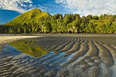 Scenic View of Tidal Flats at Low Tide at the Mouth of Monashka Creek on Kodiak Island, Alaska-Design Pics Inc-Photographic Print