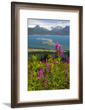 Scenic View Overlooking the Homer Spit-Design Pics Inc-Framed Photographic Print