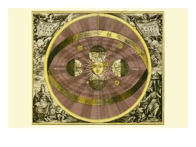 Sceno Systematis Copernicani-Andreas Cellarius-Art Print