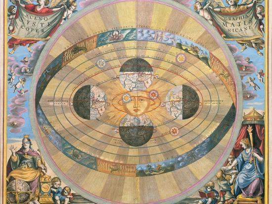 Scenographia: Systematis Copernicani Astrological Chart (C.1543) Devised by Nicolaus Copernicus…-Andreas Cellarius-Giclee Print