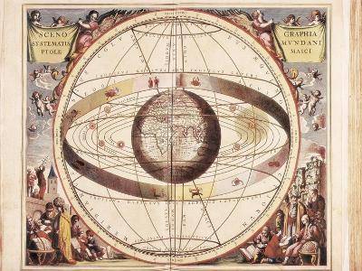 Scenographia Systematis Mundani Ptolemaici, Representation of the Ptolemaic Universe-Andreas Cellarius-Art Print
