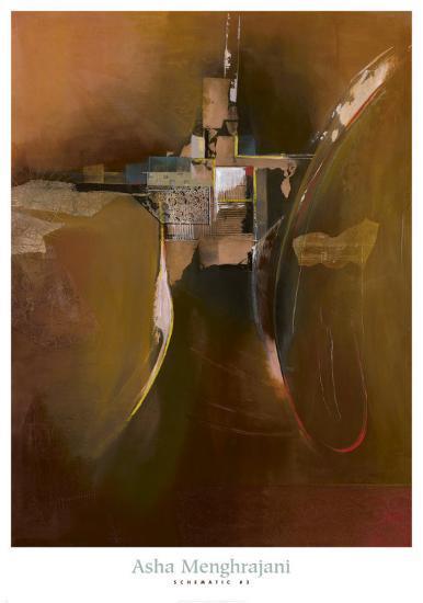 Schematic III-Asha Menghrajani-Art Print