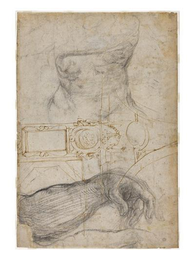 Scheme for the Decoration of the Ceiling of the Sistine Chapel, C.1508-Michelangelo Buonarroti-Giclee Print