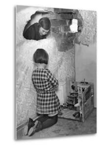 Girl with Doll's House, 1934 by Scherl Süddeutsche Zeitung Photo