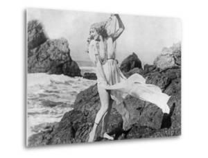 Young Woman at the Beach, Ca. 1925 by Scherl Süddeutsche Zeitung Photo
