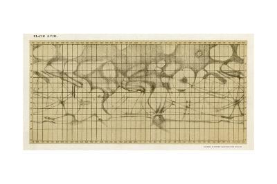 Schiaparelli's Map of the Planet Mars-Sir Robert Ball-Giclee Print