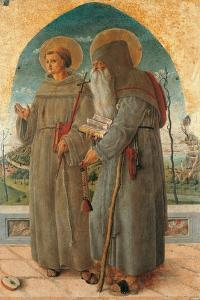 St. Francis and St. Anthony Abbot by Schiavone Chiulinovich