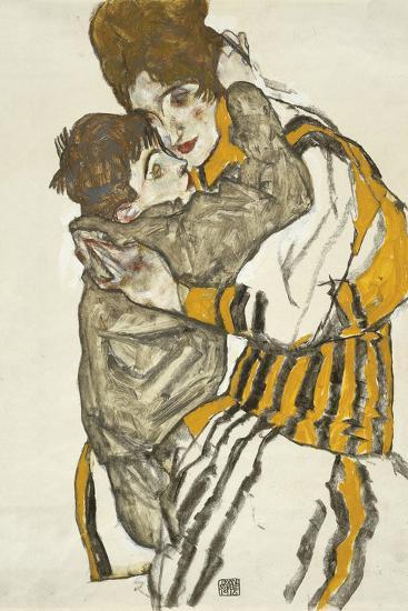 Schiele's Wife with Her Little Nephew, 1915-Egon Schiele-Giclee Print