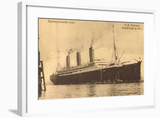 Schiff Vaterland Der Hapag, Größtes Schiff Der Welt--Framed Giclee Print